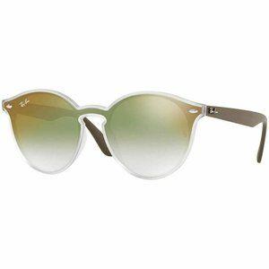 Ray-Ban Round Sunglasses Green Gradient Mirrored